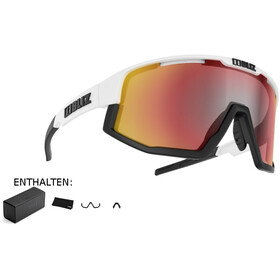 Bliz Fusion M12 Gafas, matt white/smoke with red multi